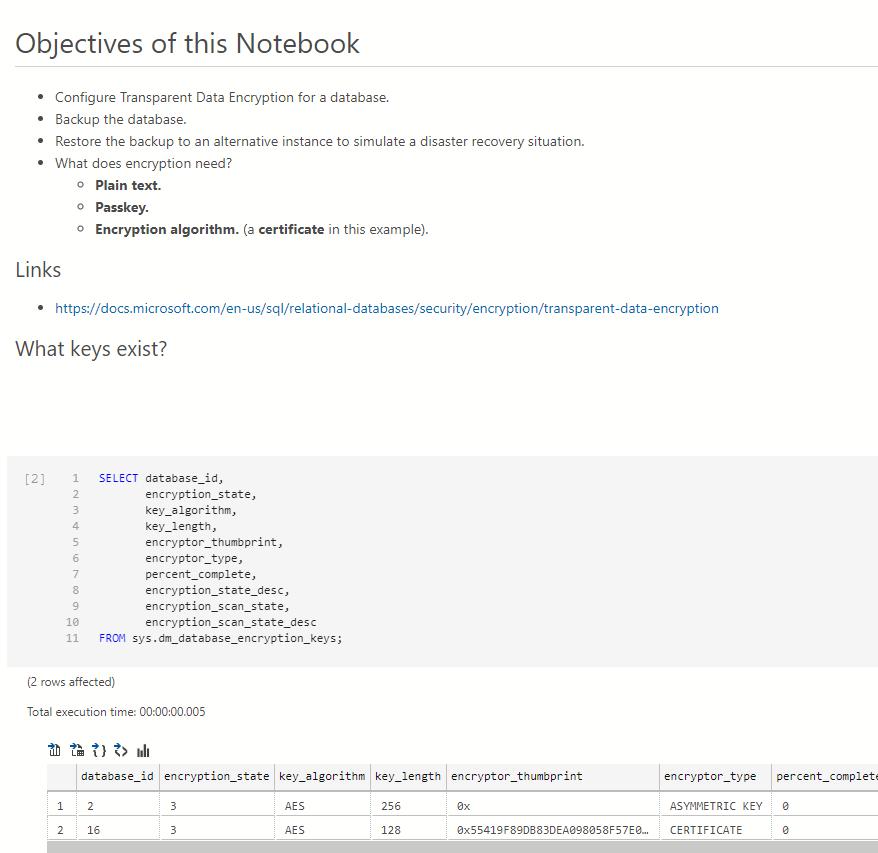 Azure Data Studio Notebook