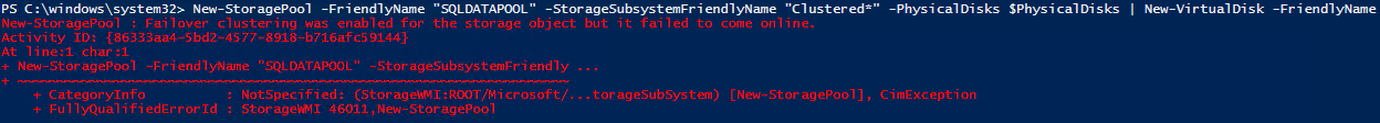 Powershell Script Failure