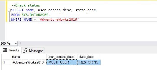 Database status 2