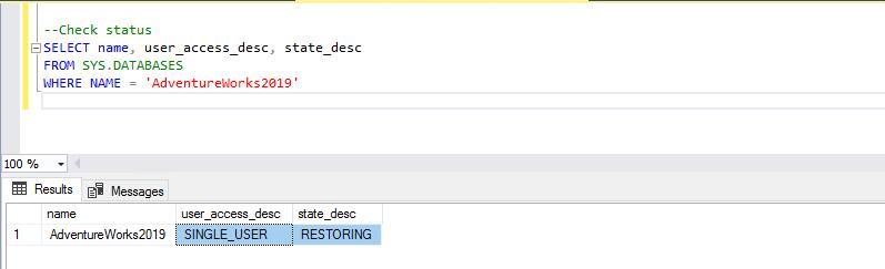 Database state